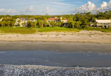 High end home with pool Sea Island oceanfront property
